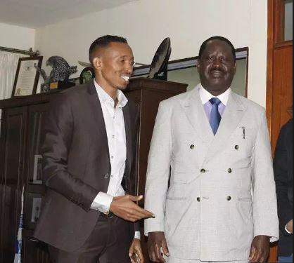 Moha and ODM party leader Raila Odinga.