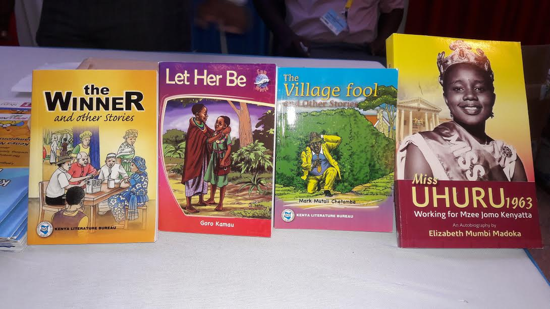 The four books from the Kenya Literature Bureau that will be used for the competition. PHOTO: BRIAN OSWETA.