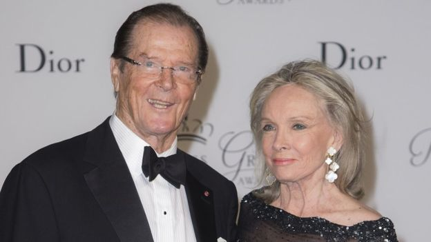 Sir Roger more together with his wife Kristina Tholstrup