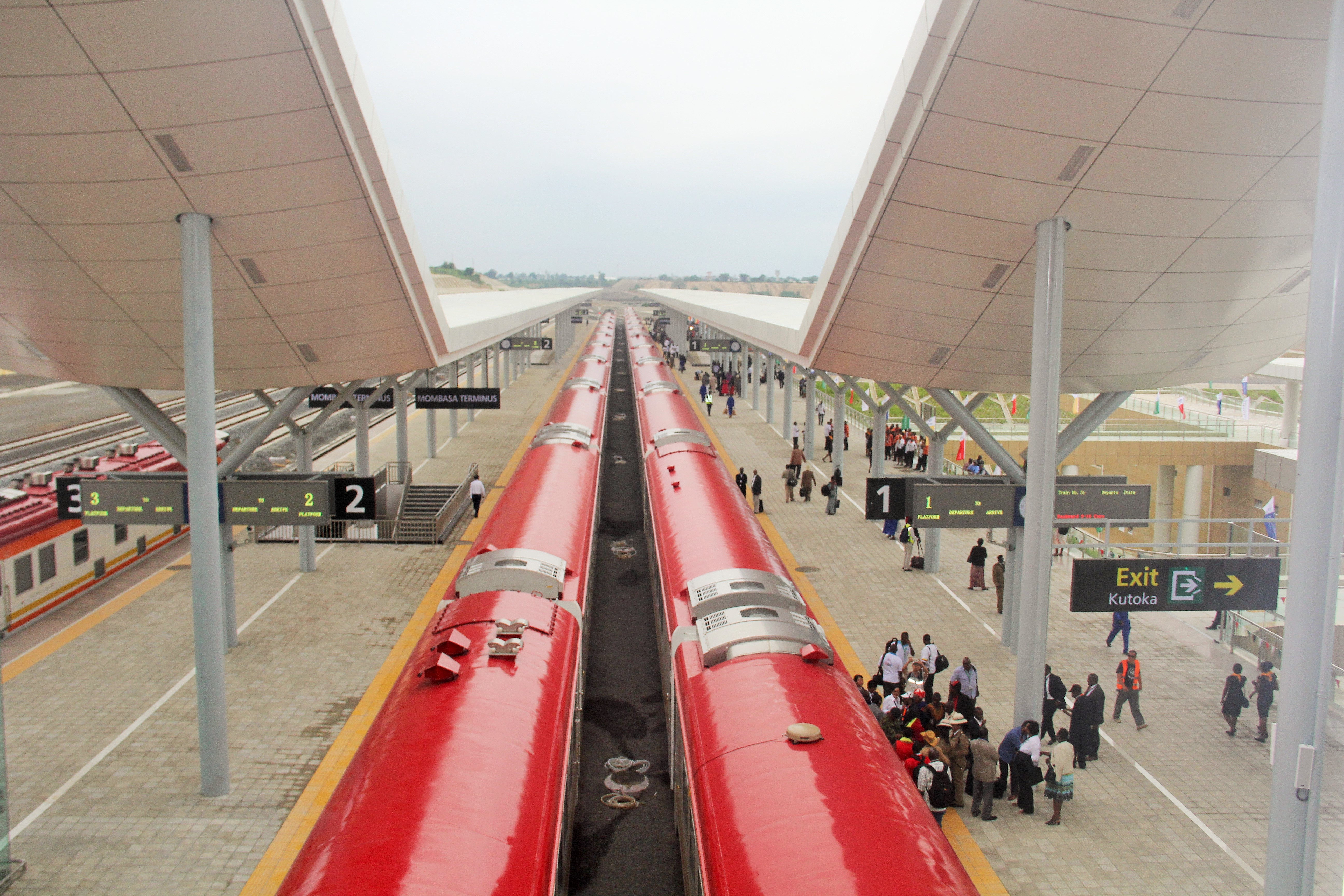 Aerial view of the Madaraka Express.