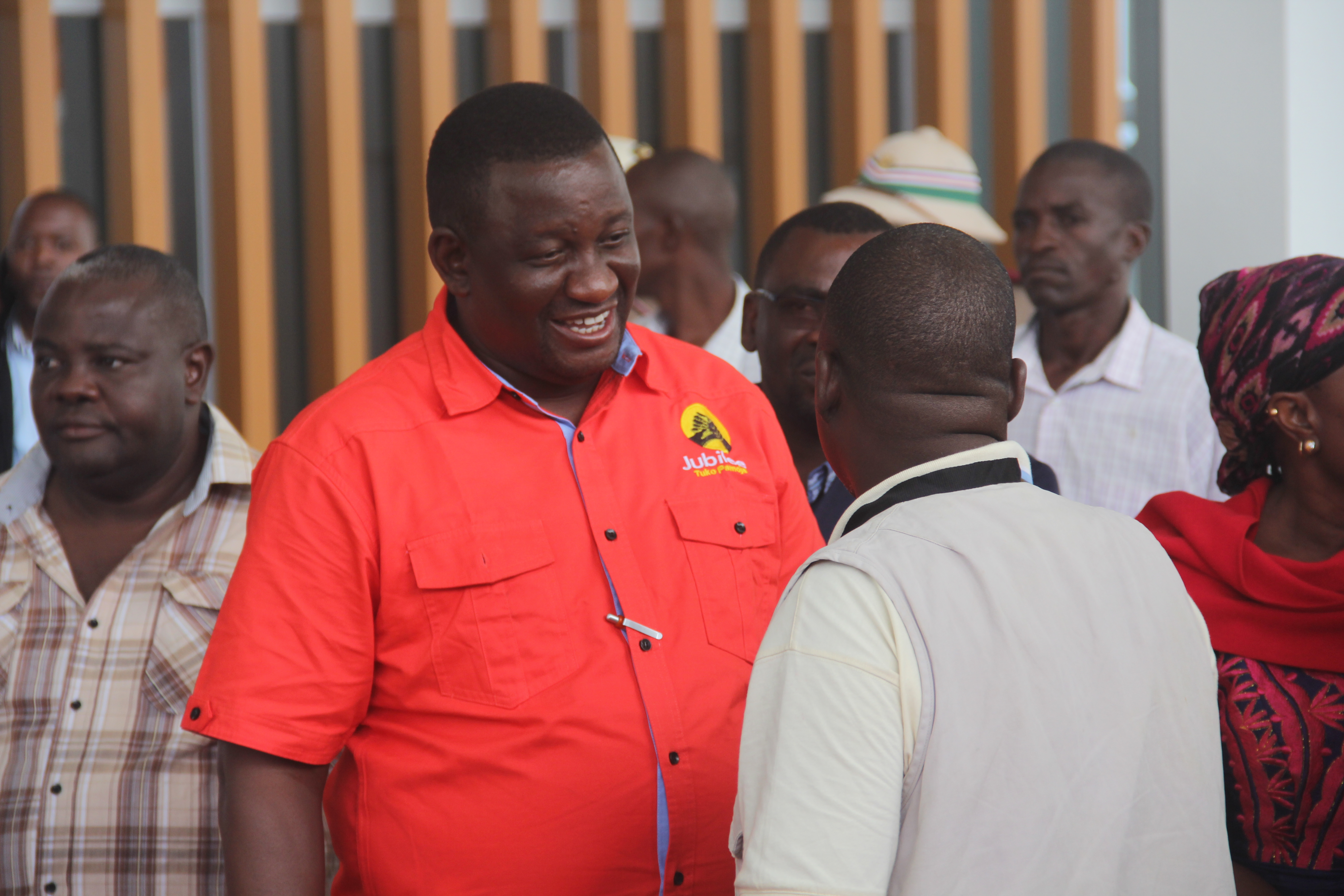 Kwale Governor Salim Mvurya at the Mariakani Terminus.