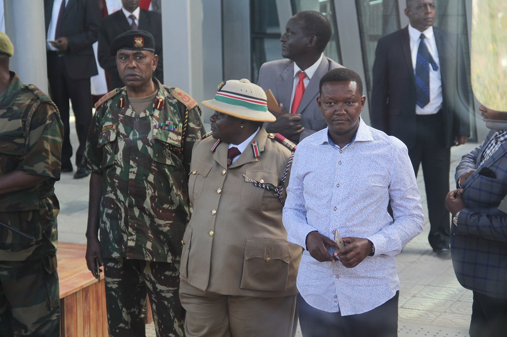 Governor Alfred Machakos at the Athi River Station.