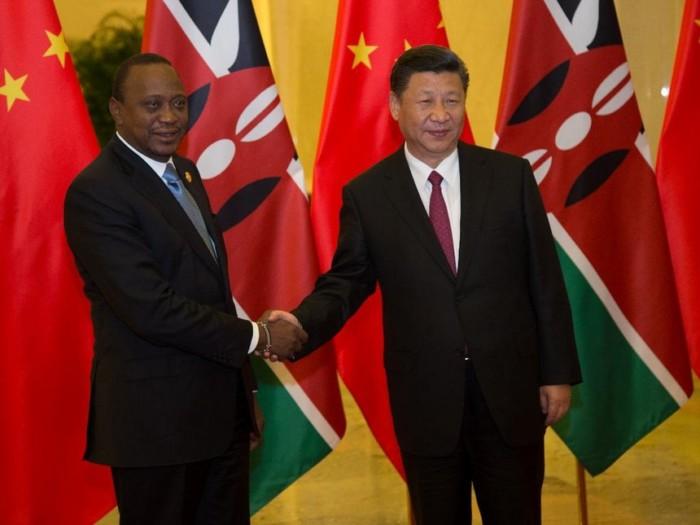 Image result for President Kenyatta and Chinese President