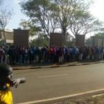 Kenyans line up at Kasarani Stadium