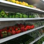Fresh vegetable shelf at Naivas Mwembe Tayari
